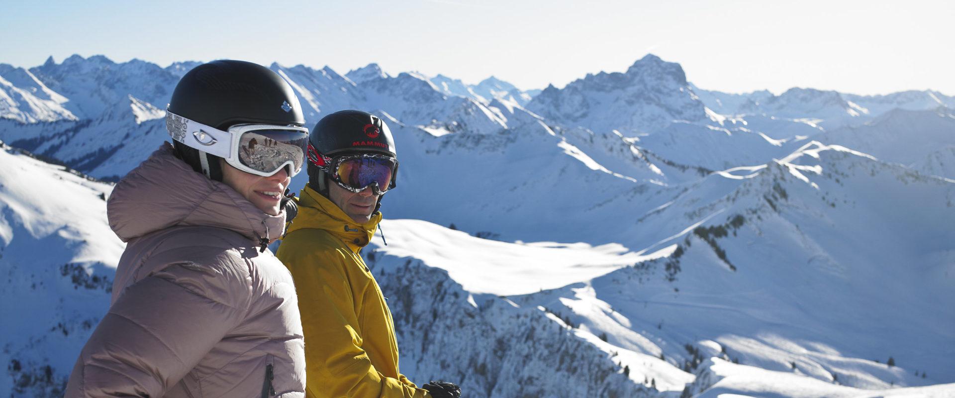 Skifahrer am Diedamskopf
